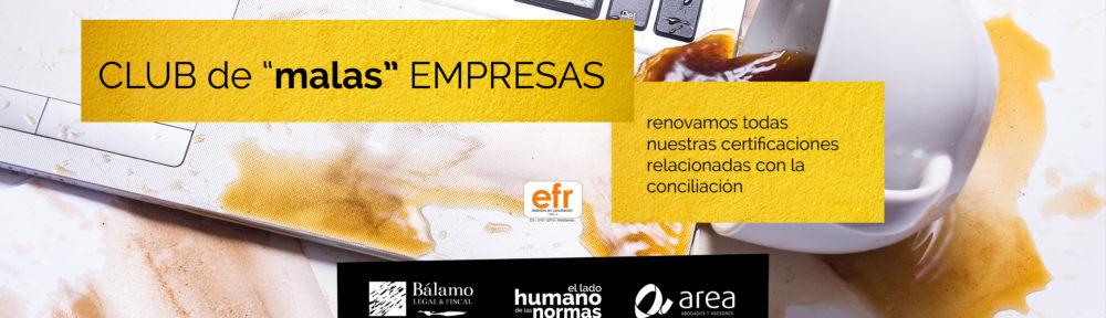 AREA certificada en AENOR y EFR